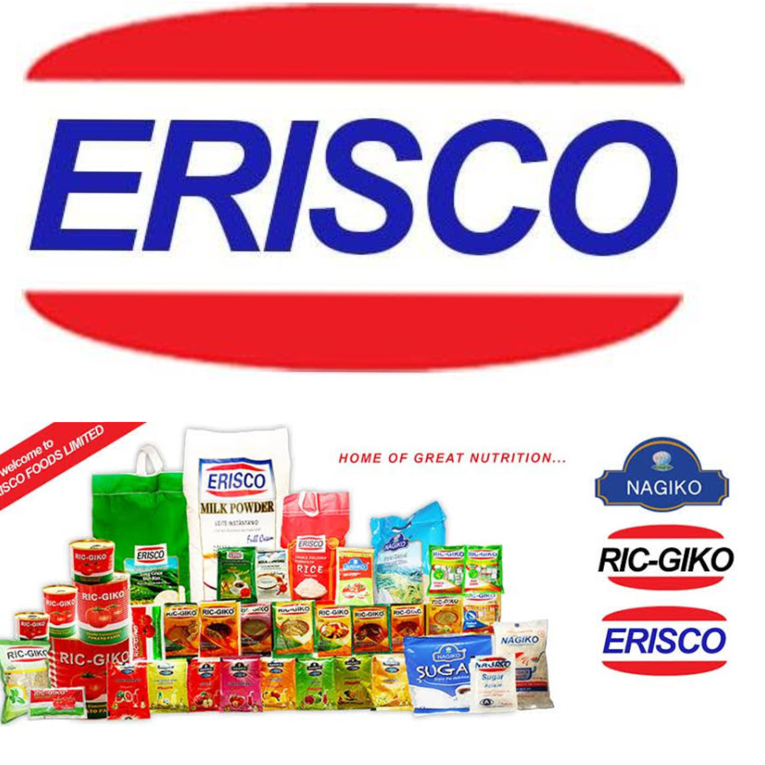 Current Job Opportunities at Erisco Foods Limited | Apply Now