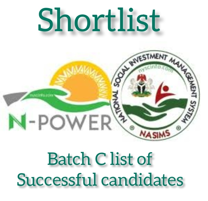 NPower Batch C Shortlists Names Of Successful Candidates for Physical Verification via https://nasims.gov.ng