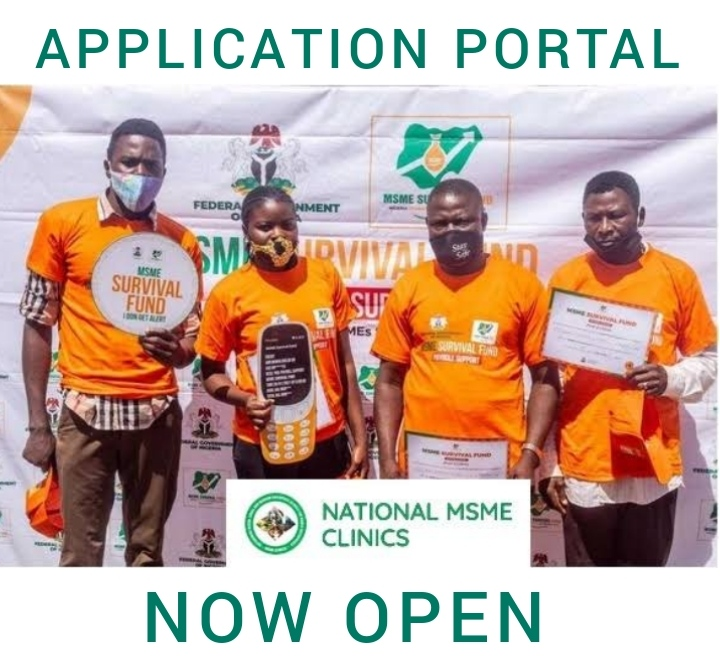 www.msmeclinics.gov.ng | Survival Fund Registration for National MSME Survival Clinics Grant Application Form Portal 2021/2022 | Apply Now